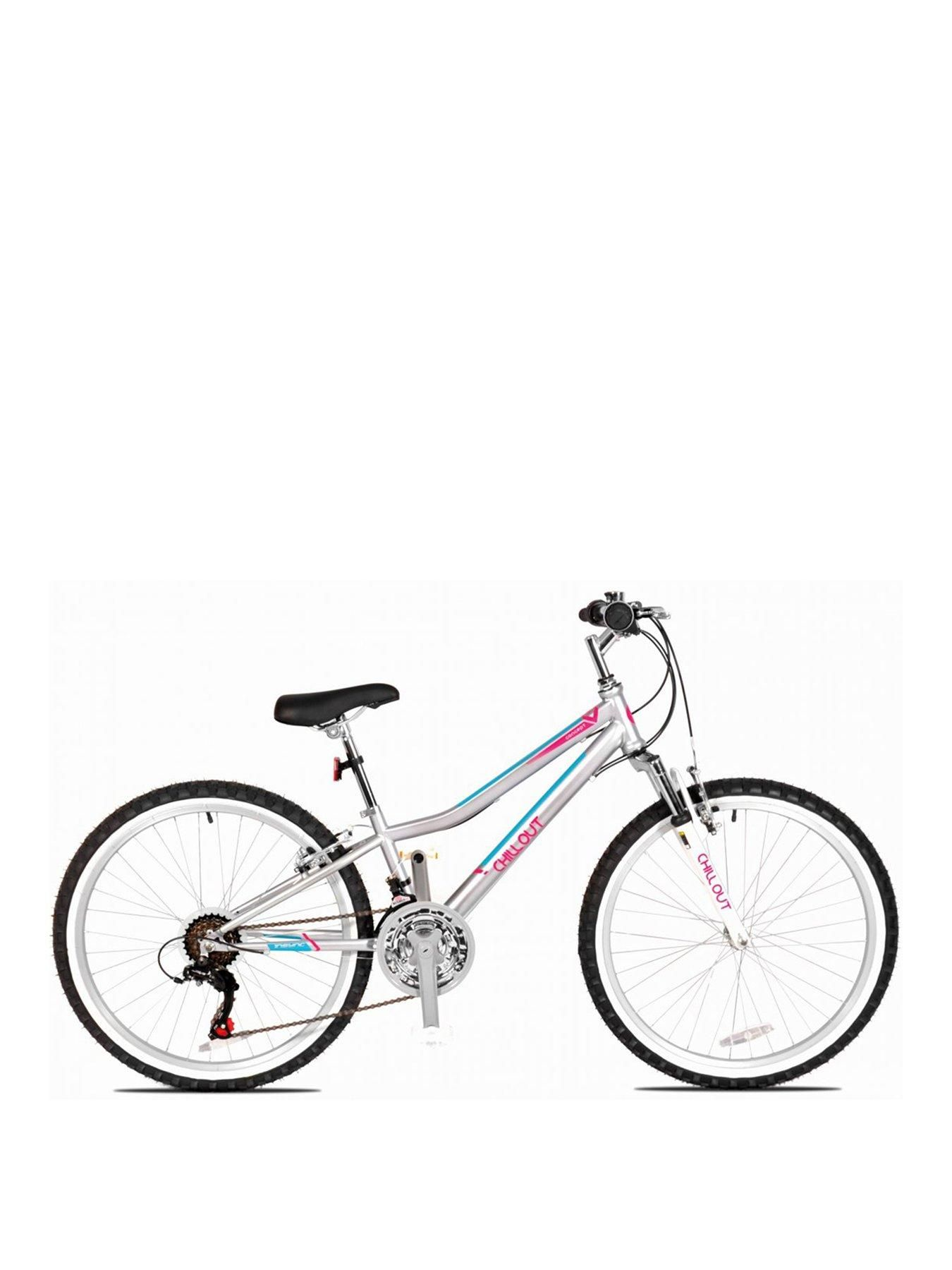 Concept Chillout Girls 13 Inch Frame 24 Inch Wheel Bike Silver In