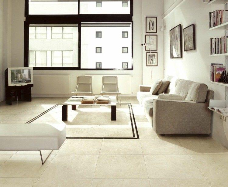 Revestimiento de suelos y paredes ideas modernas - Color beige claro ...