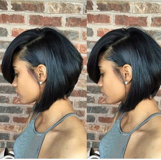 17 Best Short Bob Hairstyles For Black Women 2016 2017 Digihair Blog Short Bob Hairstyles Short Hair Styles Relaxed Hair