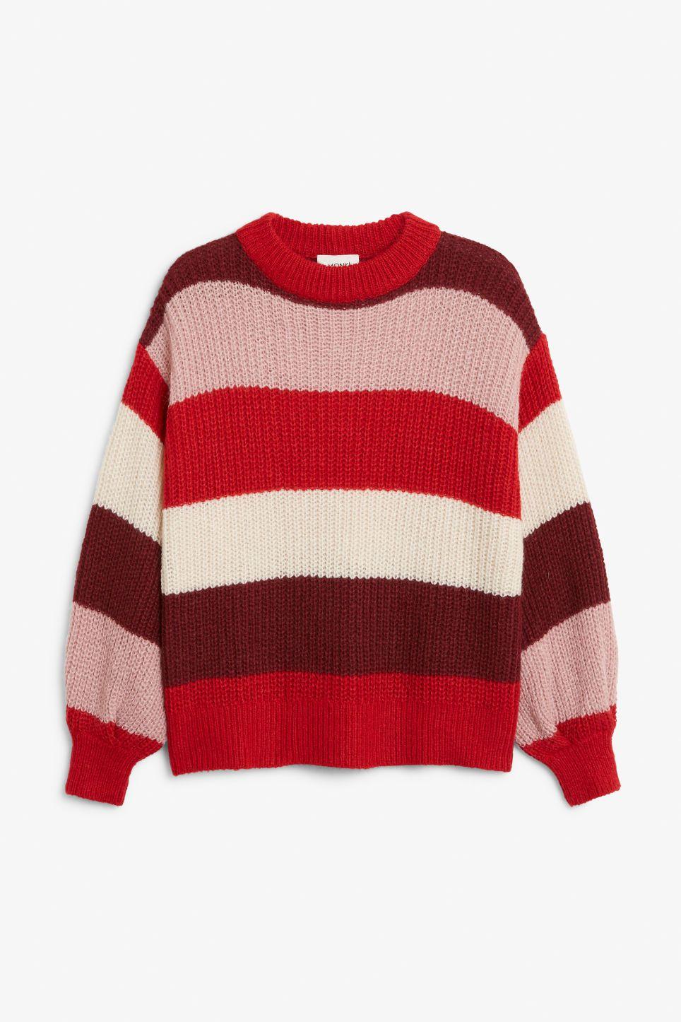 Monki   Striped knitwear, Chunky knit top, Knitwear