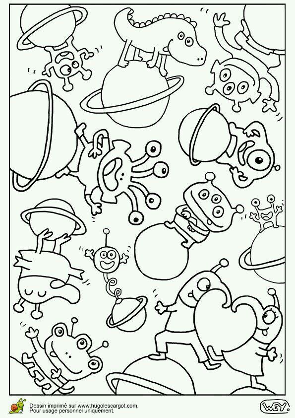 Extraterrestres | Dibujos del espacio, Mandalas para pintar pdf y Mandalas para colorear