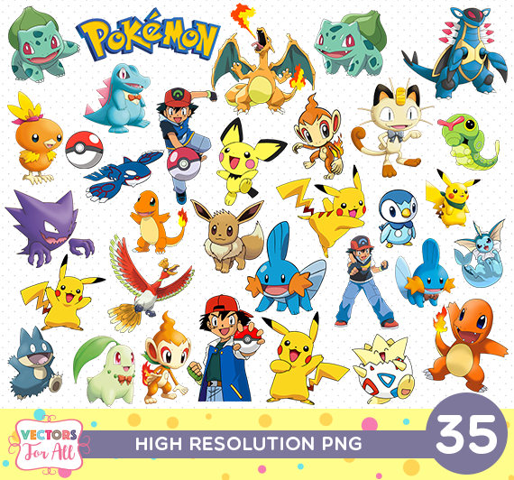 photograph about Free Printable Pokemon known as Pokemon CutOut Printable, Pokemon PNG Data files, Decoration