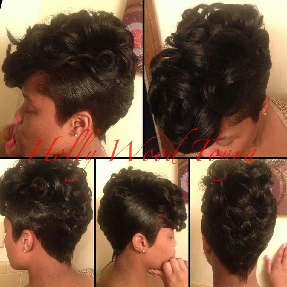 Omg hotness hot hairdos pinterest hair style short black