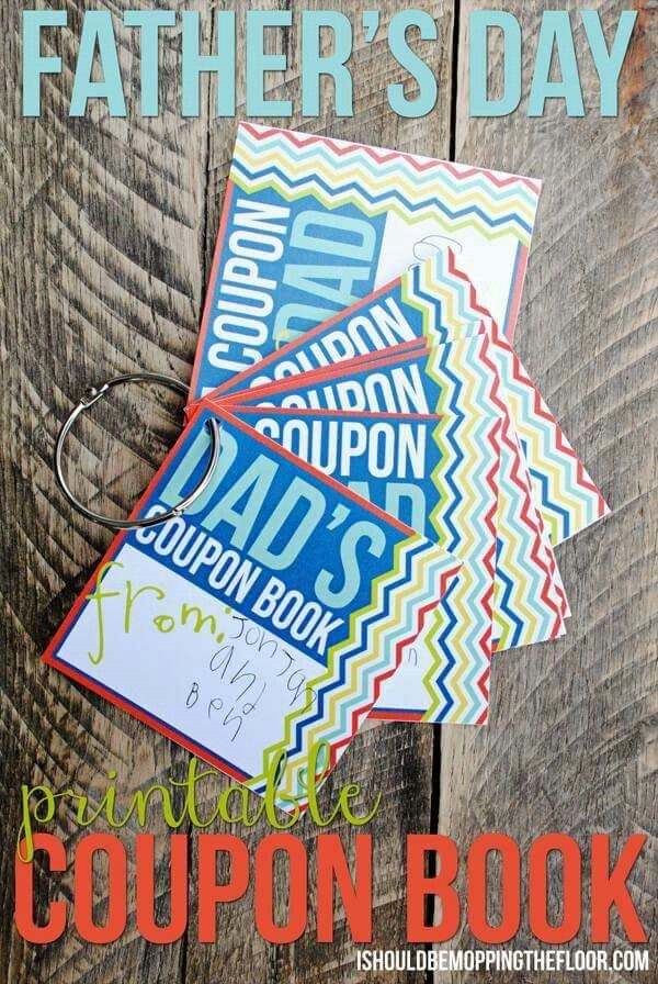 fathers day free printable coupon book cute idea for dads day