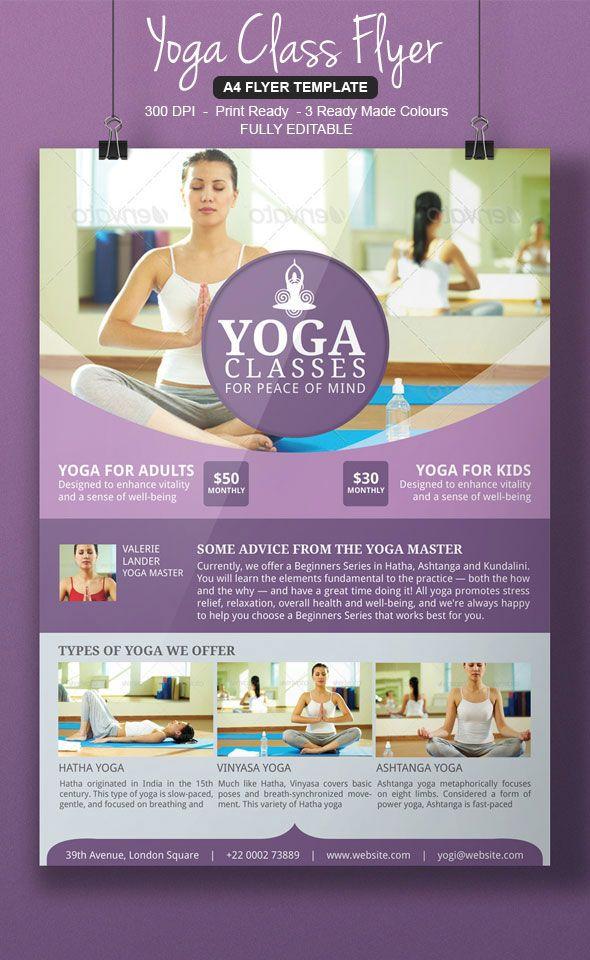 yoga flyer templates Flyer Design Pinterest Flyers, Flyer - yoga flyer