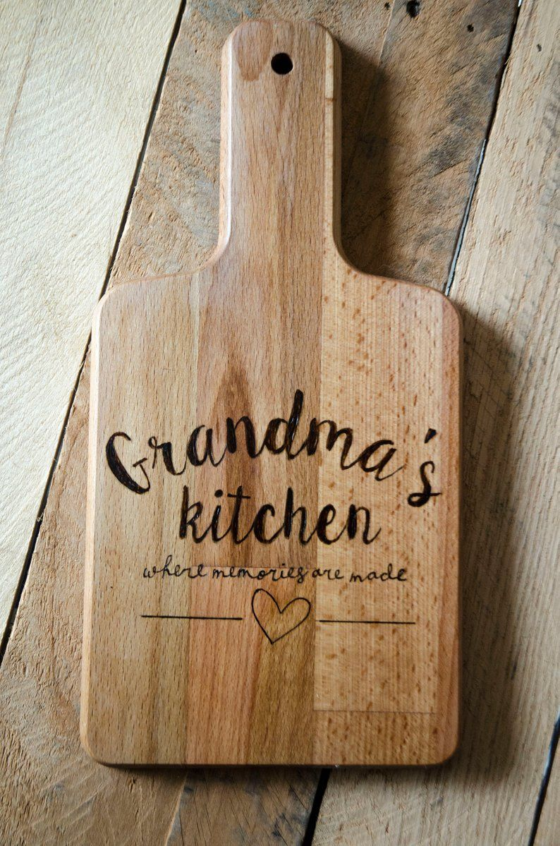 Large cutting board wood burned with a Christmas tree