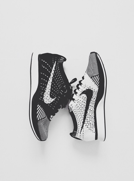 info for 70a90 c21ea Nike flyknit racer    one side black  one side white. DOPE!