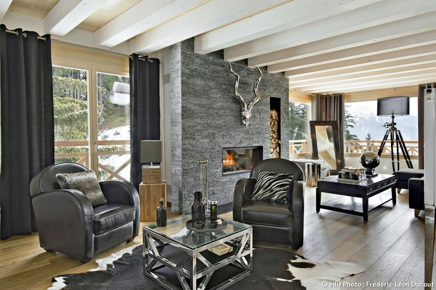 Un chalet contemporain dans les sommets alpins | Salons and Cosy
