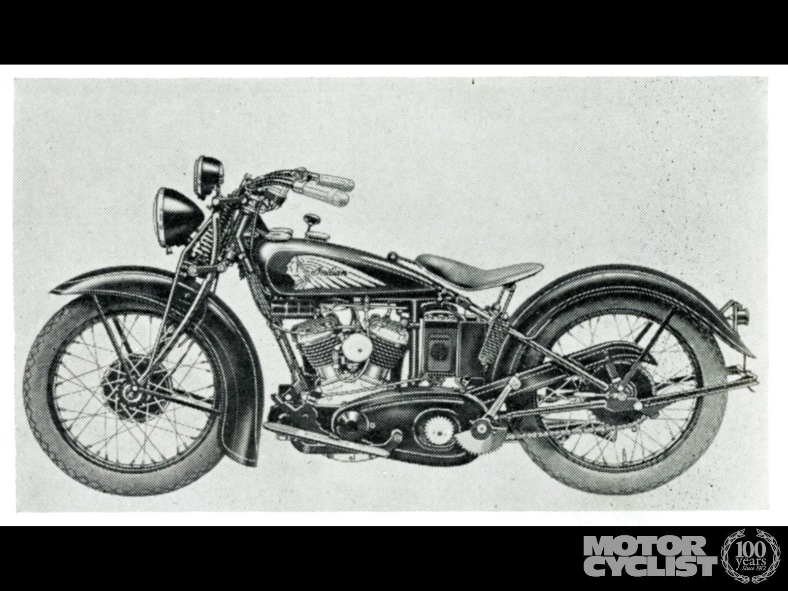 1937 Indian Motorcycle Photo Junior Scout