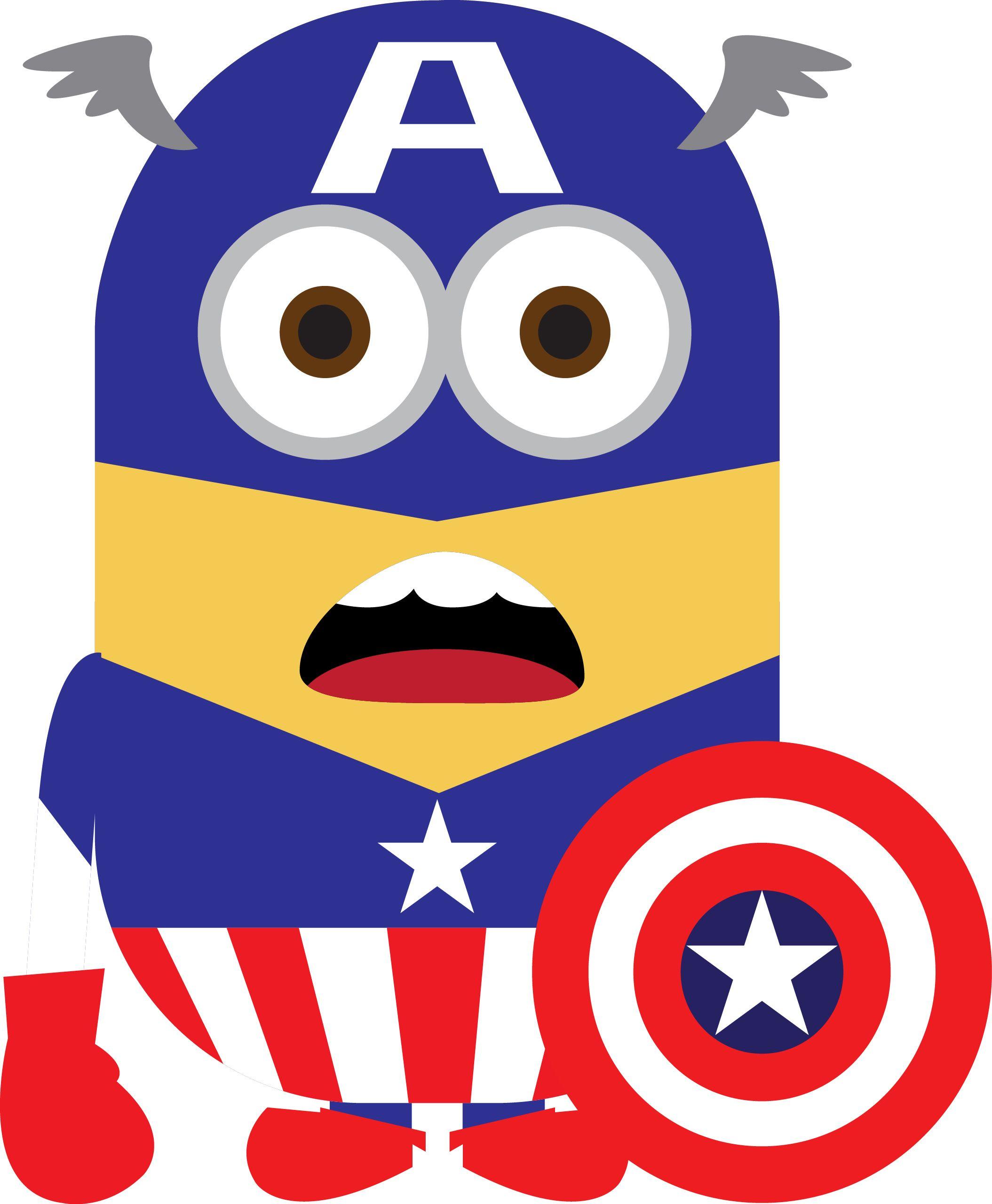 Minion Captain America Amigurumi : minion capitan america ATA Pinterest Capitan america