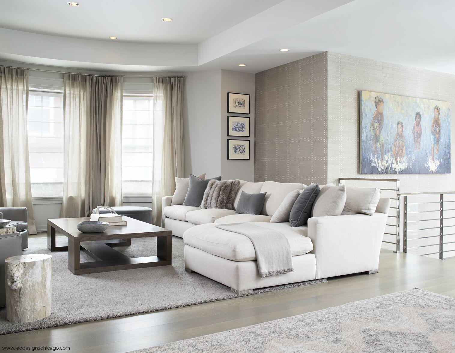 Transitional Interior Design by Leo Designs Chicago   Living Room ...