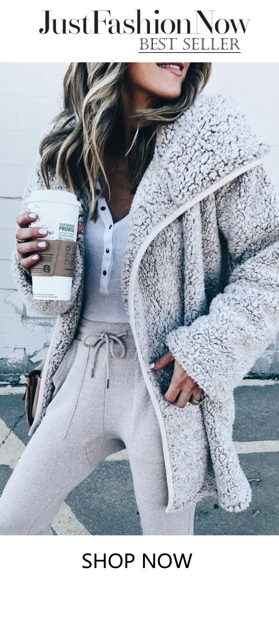 a0bcf7d73a6 Brown Buttoned Cashmere Long Sleeve Teddy Bear Coats #women's coat #fashion  #outwear