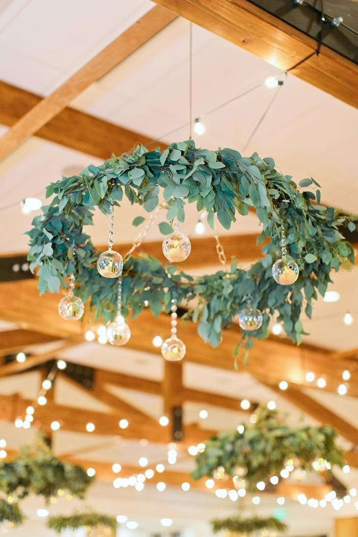 Event Deko Unique Rustic Ceiling Decor- Silver Dollar Eucalyptus