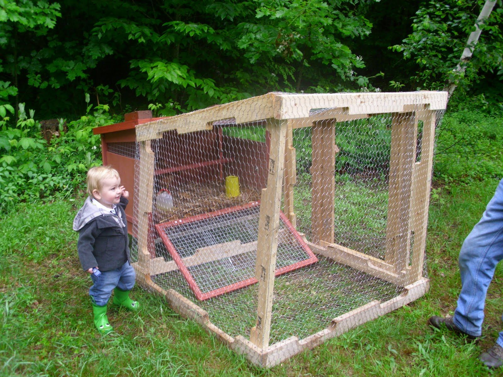 Pallet Chicken Coop 100 For The Coop At Tractor Supply Free Run Made With Recycled Pallet With Images Chicken Coop Pallets Chicken Coop Garden Chicken Coop Designs
