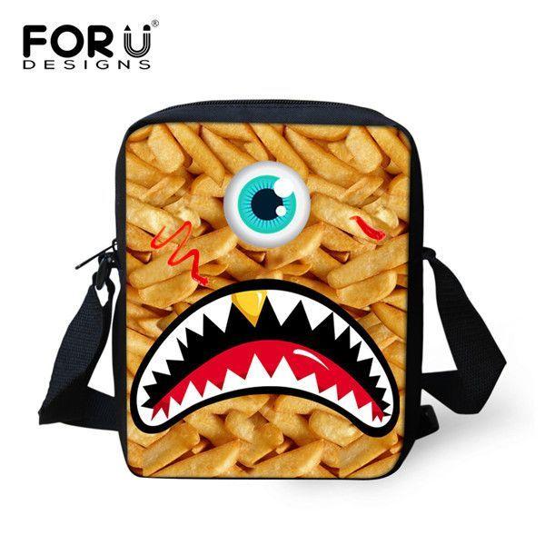 72b3128b23d4 Korean Small Messenger Bags for Women Girls Graffity Shark Tooth Crossbody  Bag Famous Brands Eye Monster Sling Shoulder Bags