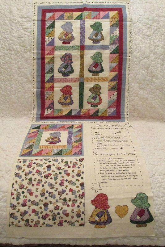 Vintage Little Quilt Sun Bonnet Sue by Fabri Quilt for Doll, table, child etc #sunbonnetsue