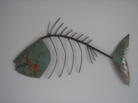 Fish Metal Wall Art fish sculpture tropical coastal beach metal wall art fish | fish