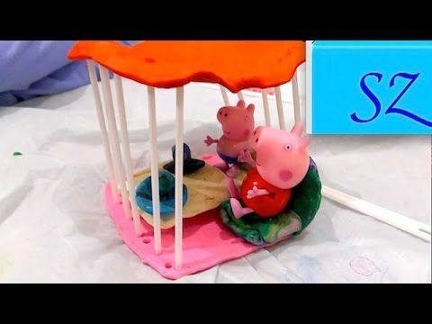 Домик  беседка для Свинки Пеппы и Джорджа - Лепим из пластилина