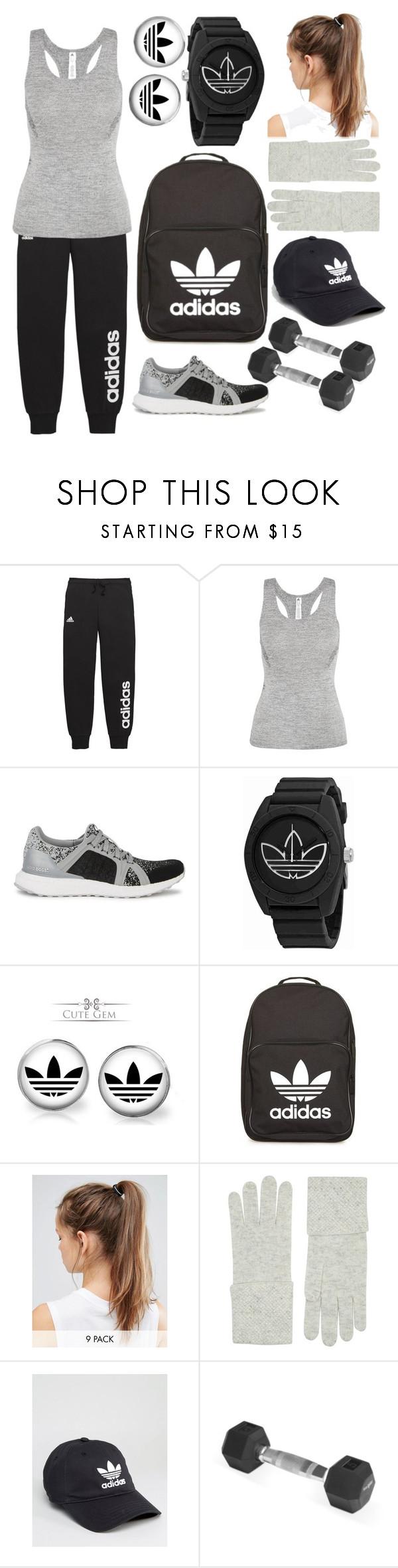 """adidas"" by jasmine-hapsari ❤ liked on Polyvore featuring adidas, NIKE, William Sharp and Handle"