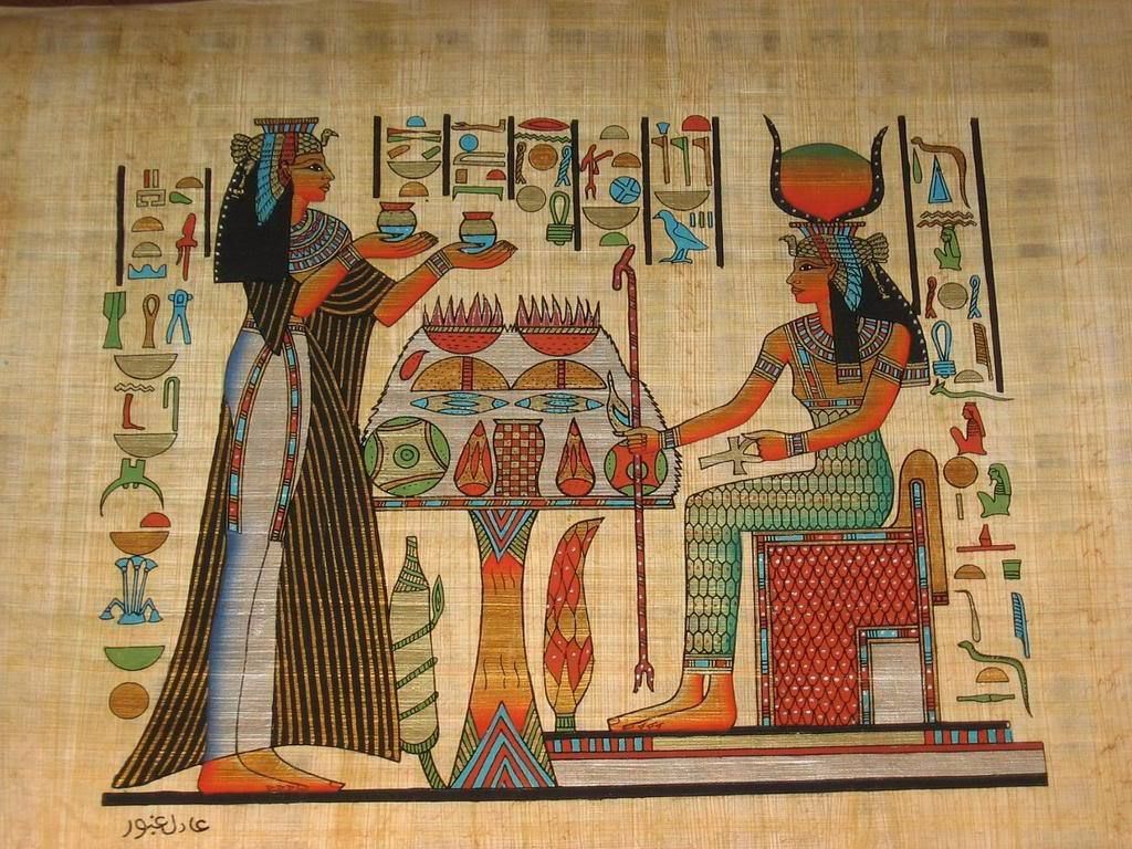 Egyptian ancient egypt art egyptian art 01 egyptian art for Egyptian wallpaper mural