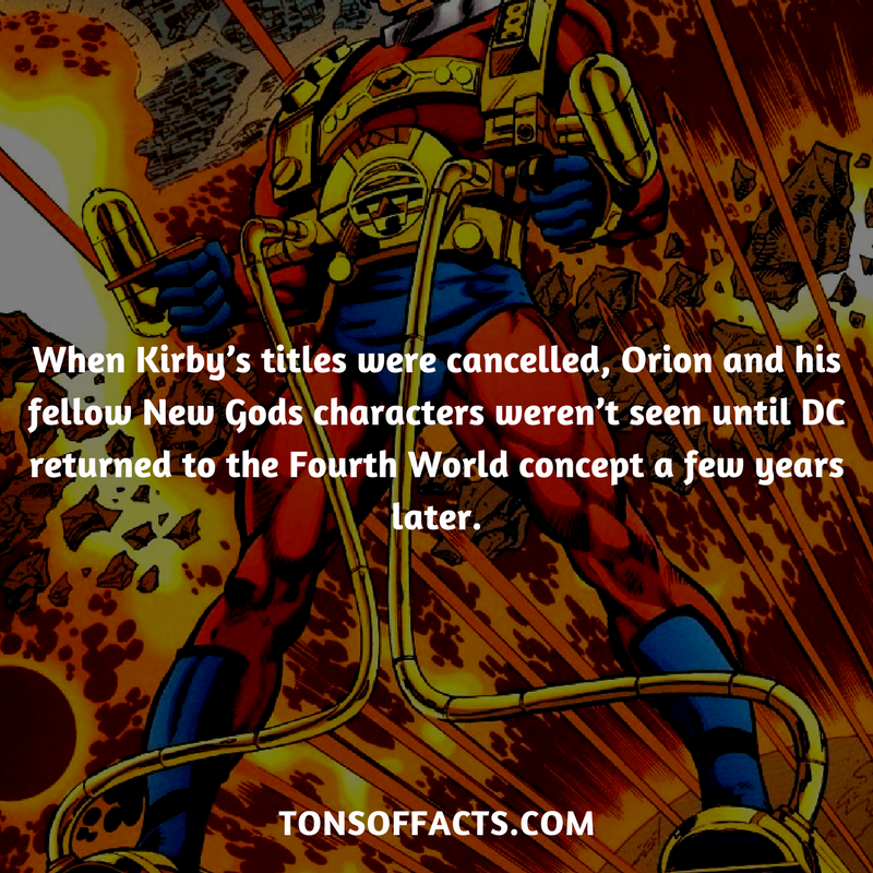 When Kirby's titles were cancelled, Orion and his fellow New