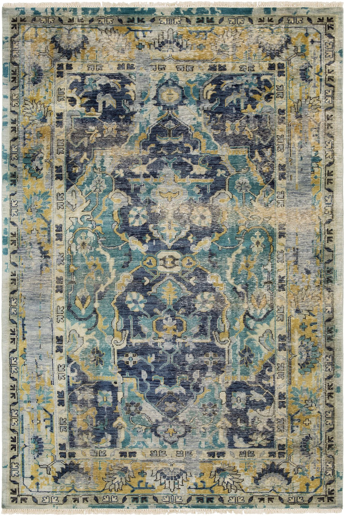 Festival Hand Knotted Wool Area Rug From Suryasocial