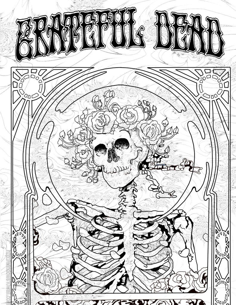 A Groovy Fun Adult Coloring Book Featuring Illustrations From