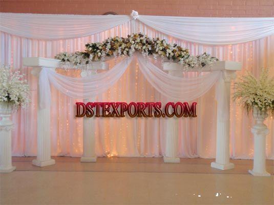 Wedding White Roman Pillars Wedding Stage Wedding Decorations Wedding Backdrop