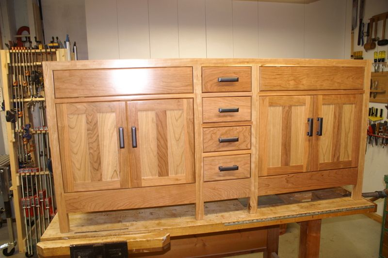 Mission style vanity bathroom ideas pinterest best for Craftsman cabinet plans