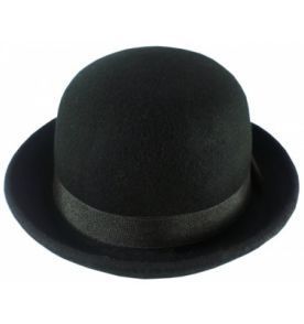 chapéu coco chaplin laranja mecânica