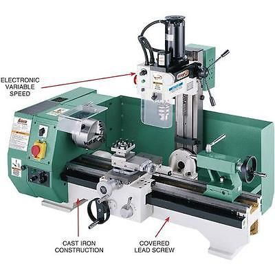 g0516 grizzly combo lathe w/ milling attachment in 2018 | machine ...