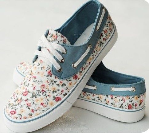 Floral Canvas Shoes For Women Printed Sneaker Flats  2162cc4c5e8