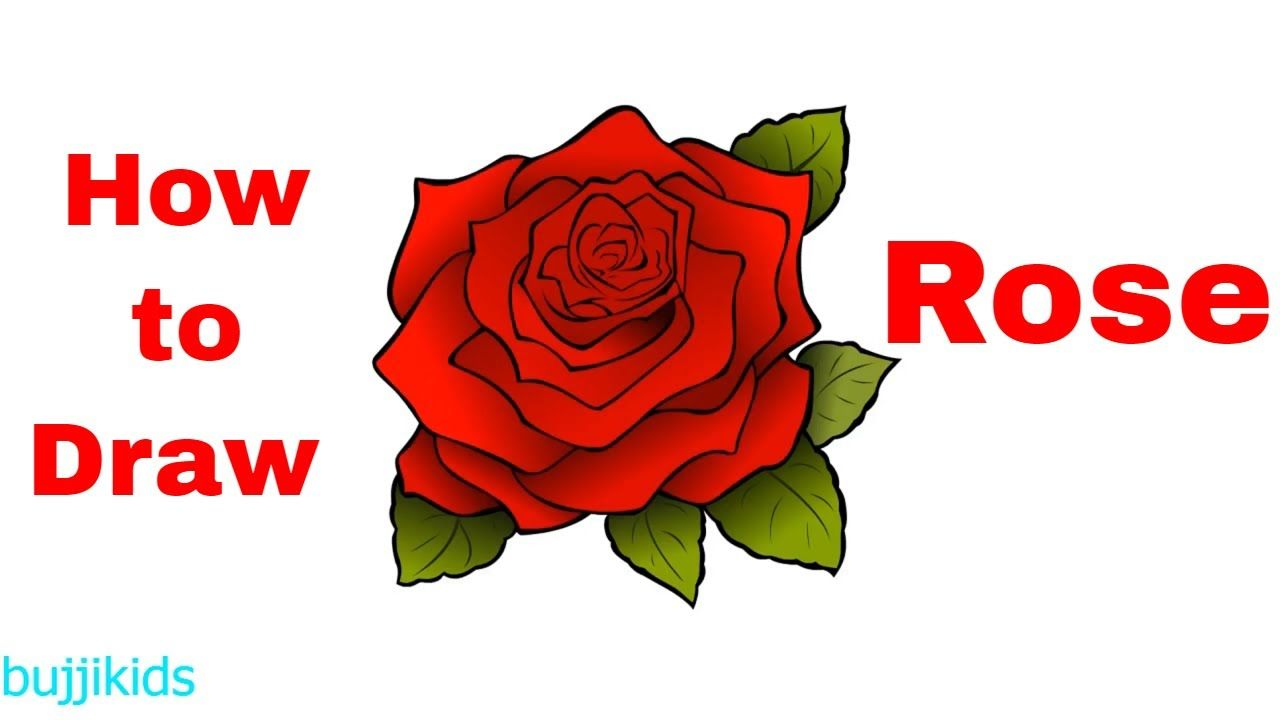 How To Draw A Rose For Kids Rose Drawing Step By Step Easy Tattoo Drawings Step By Step Drawing Rose Drawing
