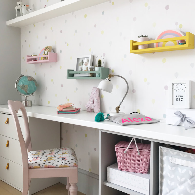 Ikea Hack Desk Space By Style The Clutter Made Using A Plain White Worktop And Two Of The Eket Units Either Side Spice Rack Ikea Kids Desk Eket Ikea Desk Hack