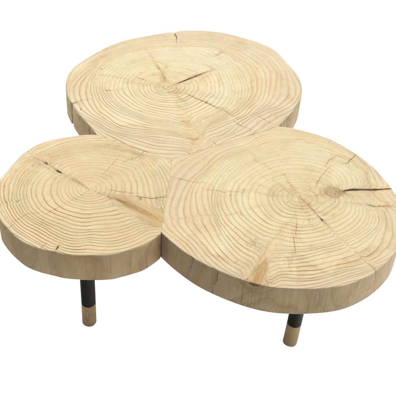 Instable Coffee Table By Durame The Insertion Of Tre Logs Of Sandblasted Solid Cedar Wood Makes This Striking In 2020 Coffee Table Pine Coffee Table Iron Coffee Table