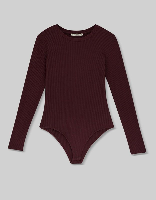 6e51e348959c4 Body canalé manga larga - Camisetas - Ropa - Mujer - PULL BEAR Guatemala