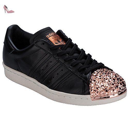 Adidas Superstar 80s Metal Toe TF W, core black/core black/copper metallic, 5,5