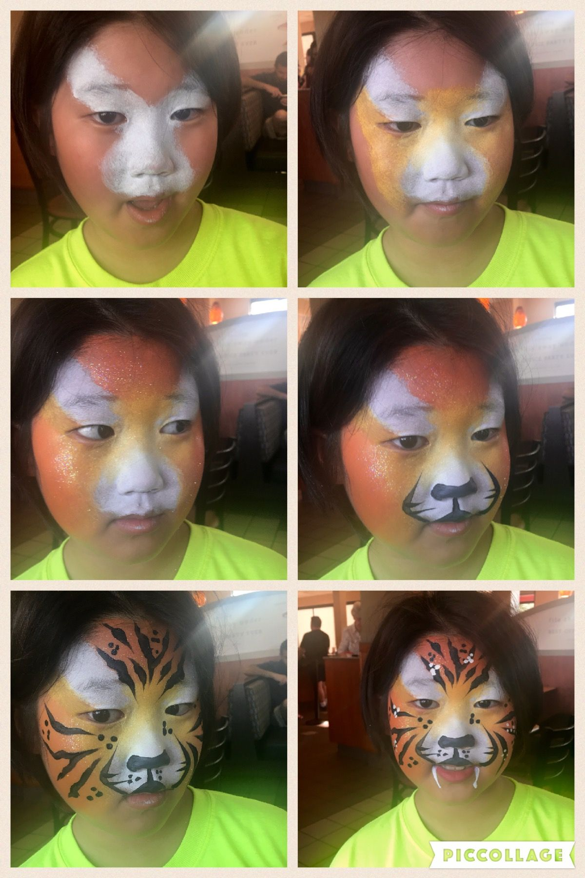Uncategorized Step By Step Face Painting my easy tiger face paint step by personal painting step