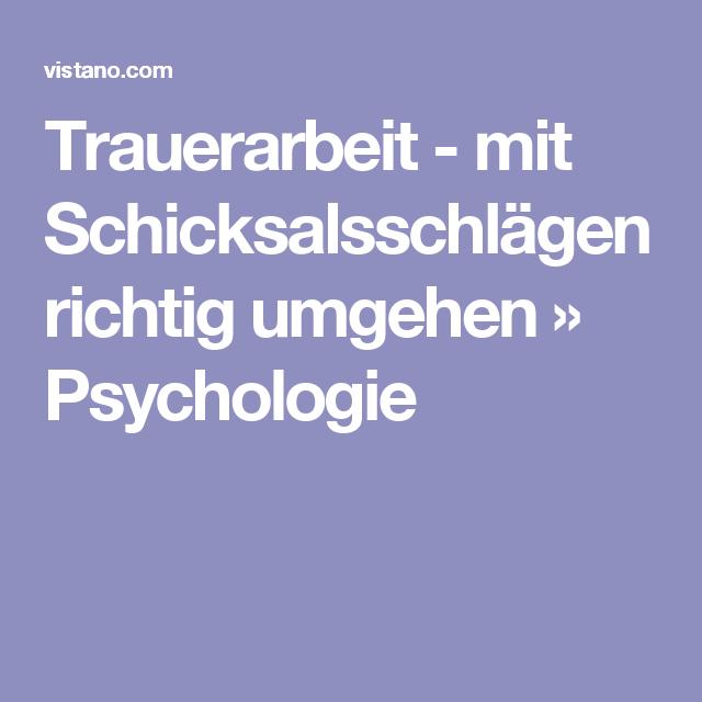 Trauer Psychologie