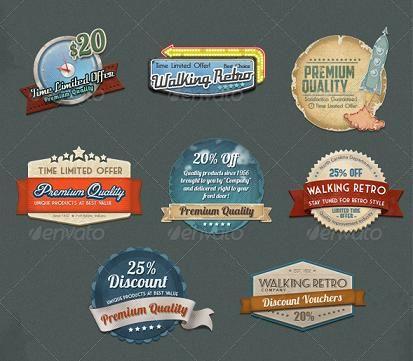Badge Website 40 retro web design psd s and web elements stuff