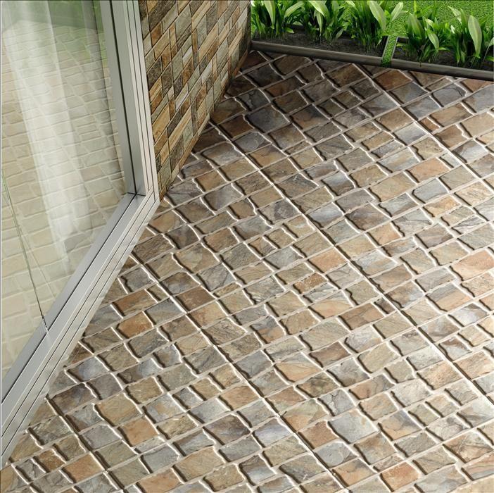 Pavimento antideslizante de exterior espesorado haro musgo - Ceramica para exteriores ...