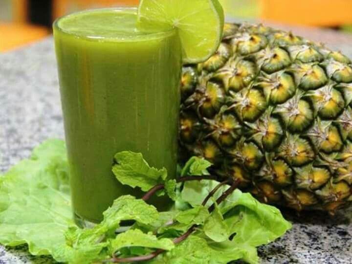 Suco Verde Suco Detox Abacaxi Smoothies Saudaveis Batidos