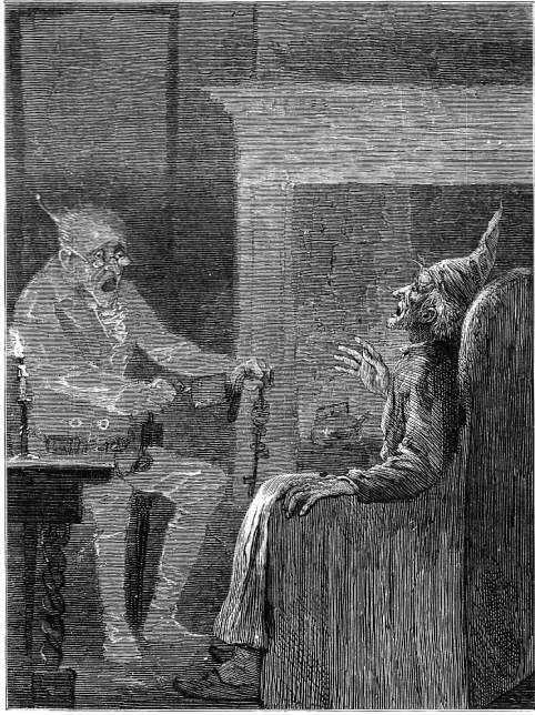 Marley's Ghost Sol Eytinge | Dickens christmas carol, Christmas carol, Christmas illustration
