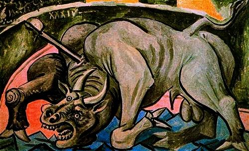 """Dying Bull"" 1934 - Pablo Picasso."