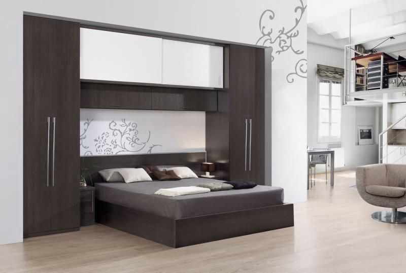 Armario puente dos colores blanco y madera ideas para el - Dormitorio puente ...