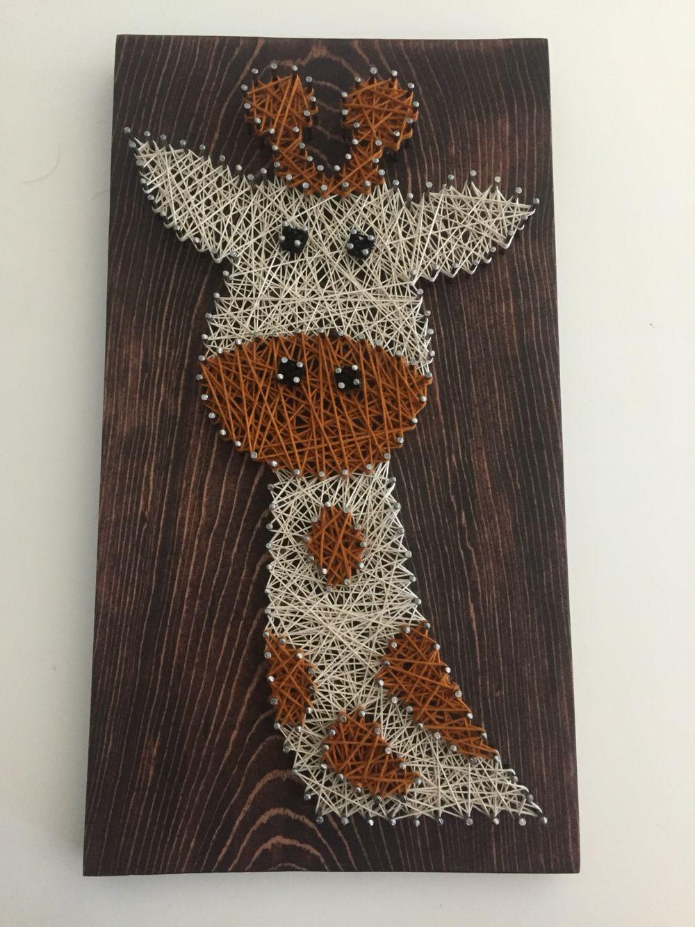 Giraffe string art Giraffe string art