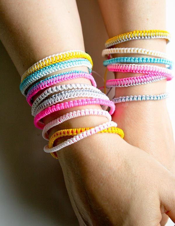 Bracelets d\'amitié en cordon chinois : 2 variantes - tutoriel ...