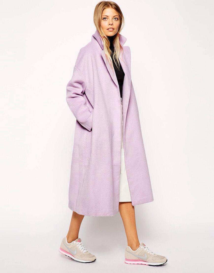Cocoon Clothes Style Fashion Women Coat Asos Long Pink Hd0CqxwAAn