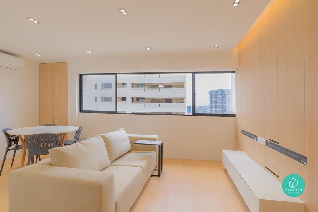 8 Incredible Ways To Design A 3 Room Flat Living Room Design Small Spaces Japanese Interior Design Interior Design Singapore