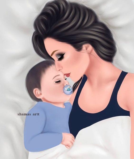 Big Love Madre Y Bebe Diseno Madre E Hija Dibujo Madre E Hija